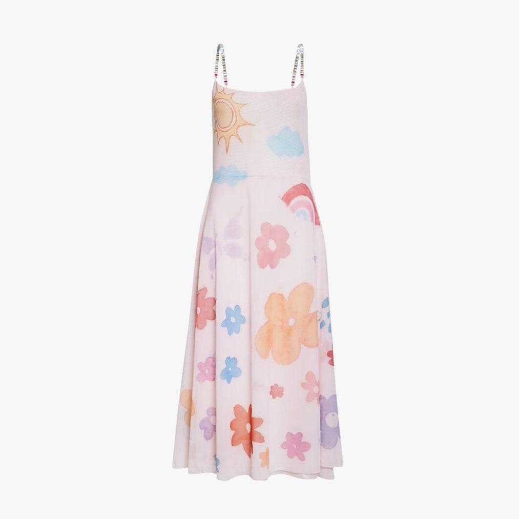 Collina Strada Floral Print Crystal Strap Market Dress 560лв