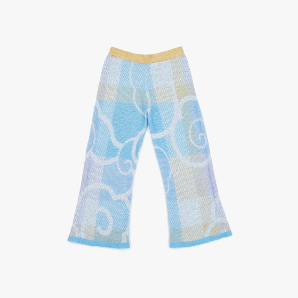 Yanyan Fuzzy Plaid Knit Pants 350лв