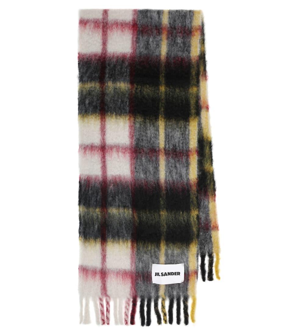 JIL SANDER, Checked mohair and wool-blend scarf, от 566лв на 396лв