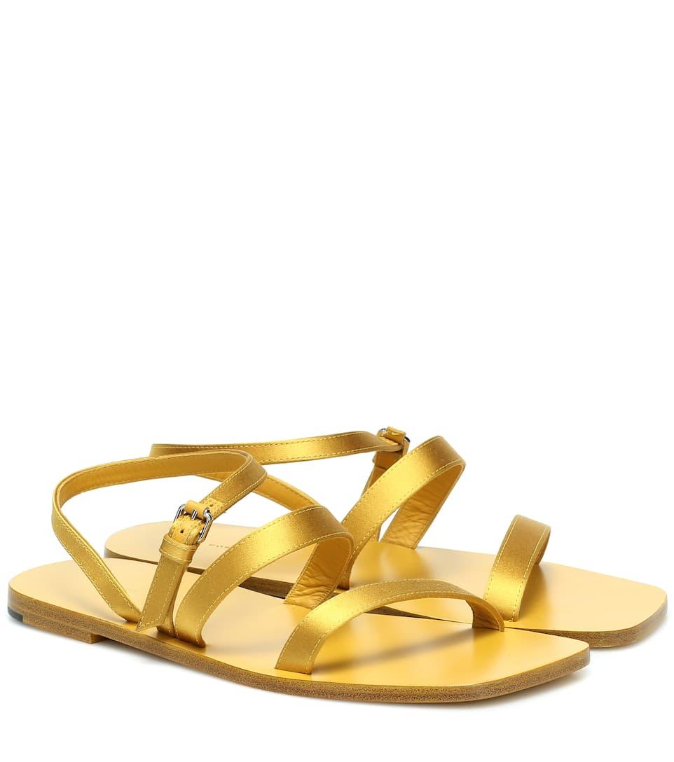 THE ROW, Flat Wedge satin sandals, от 1446лв на 723лв