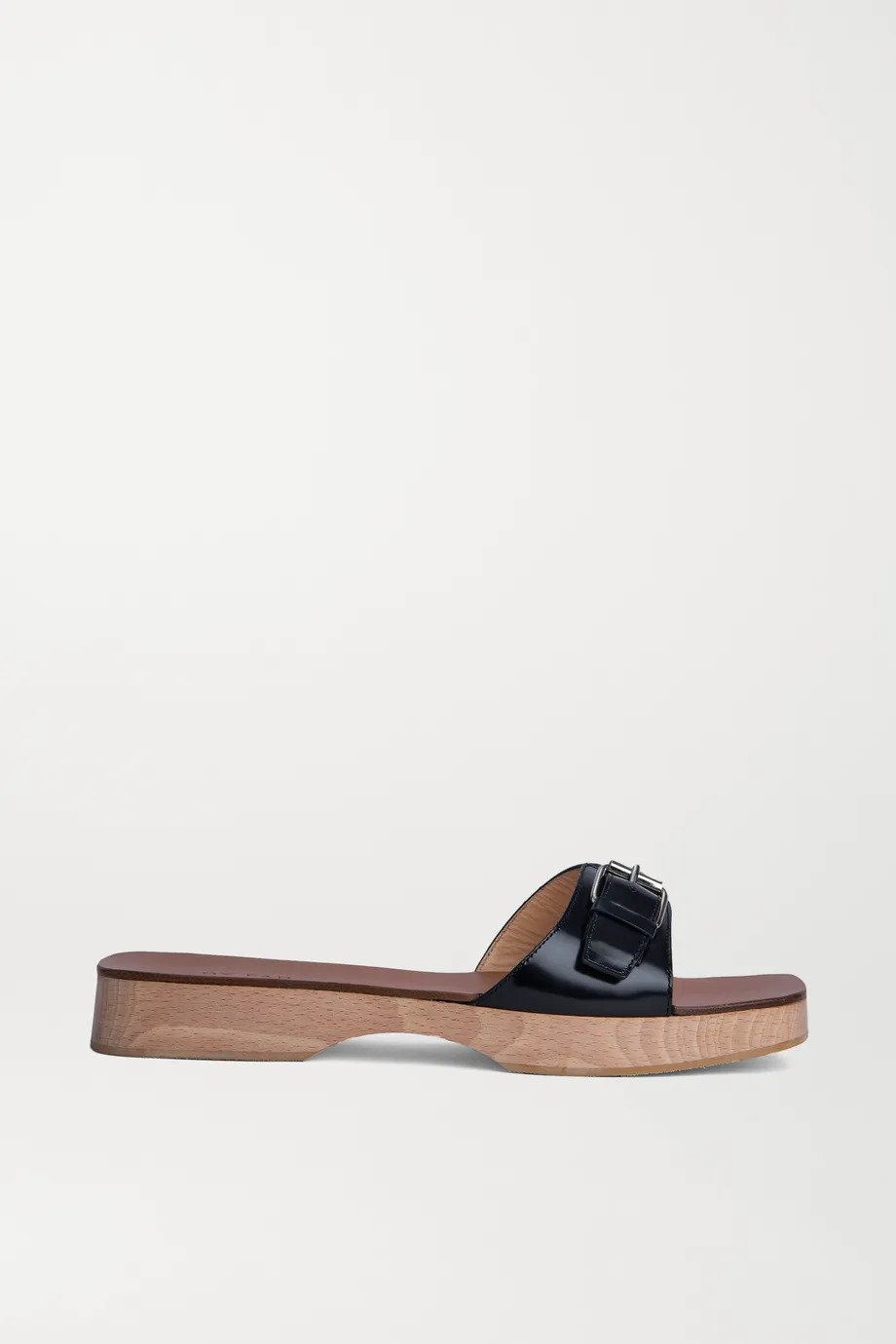 BY FAR, Buckled leather slides, от 537лв на 161лв