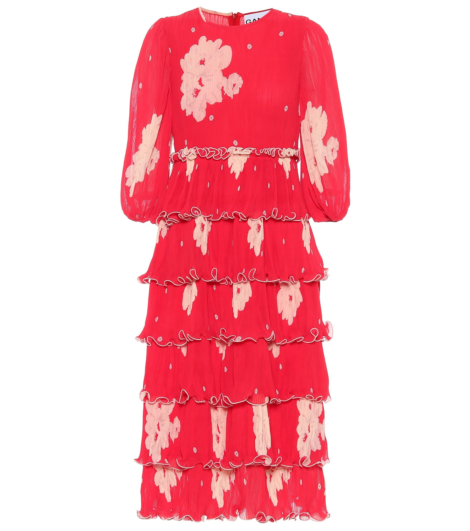 GANNI, Floral georgette midi dress, от 440лвна 219лв