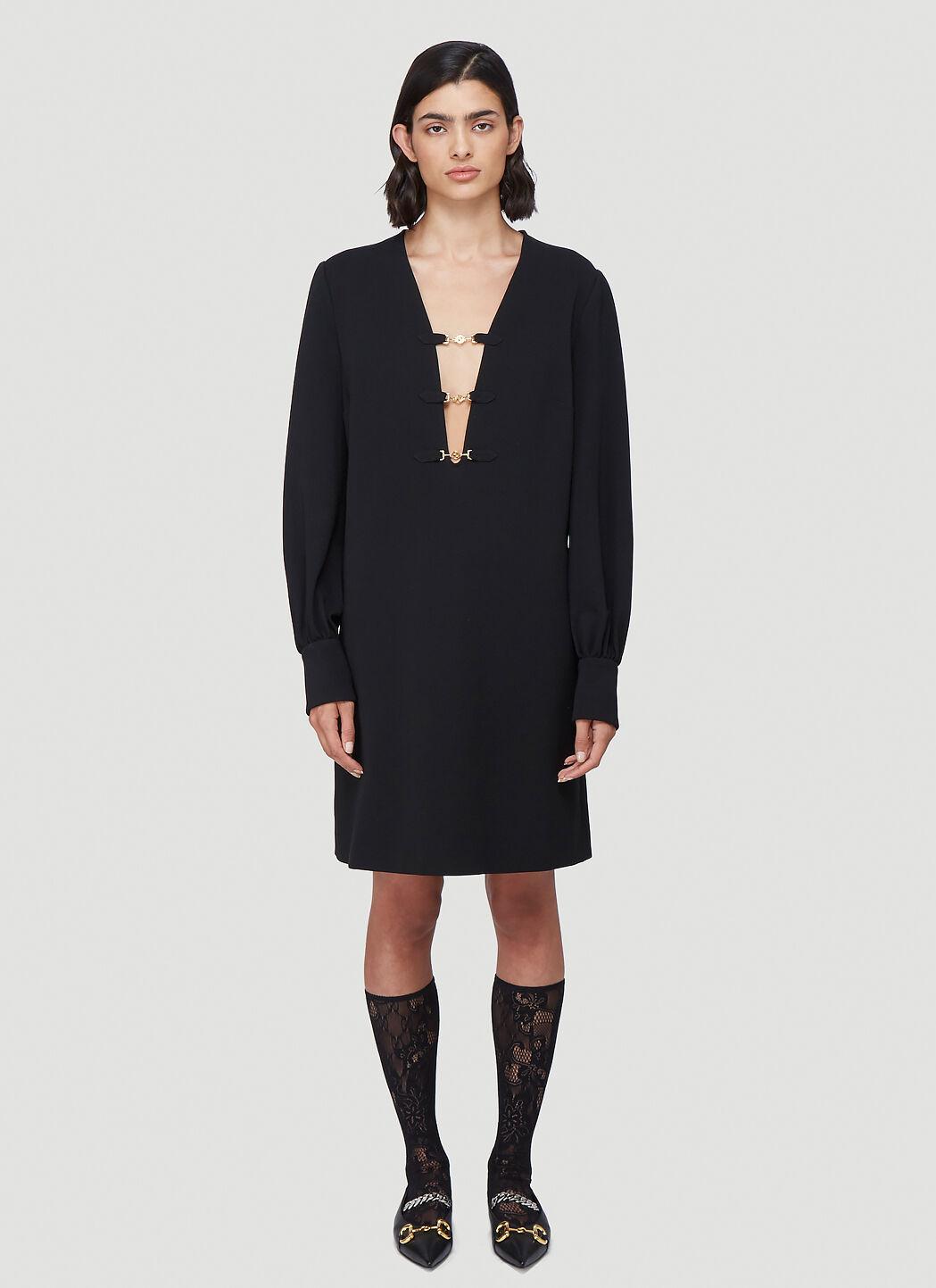GUCCI, Deep V-Neck Dress in Black. от 2726лв на 953лв