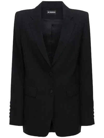 ANN DEMEULEMEESTER, Striped wool gabardine jacket, от 2795лв на 1397лв