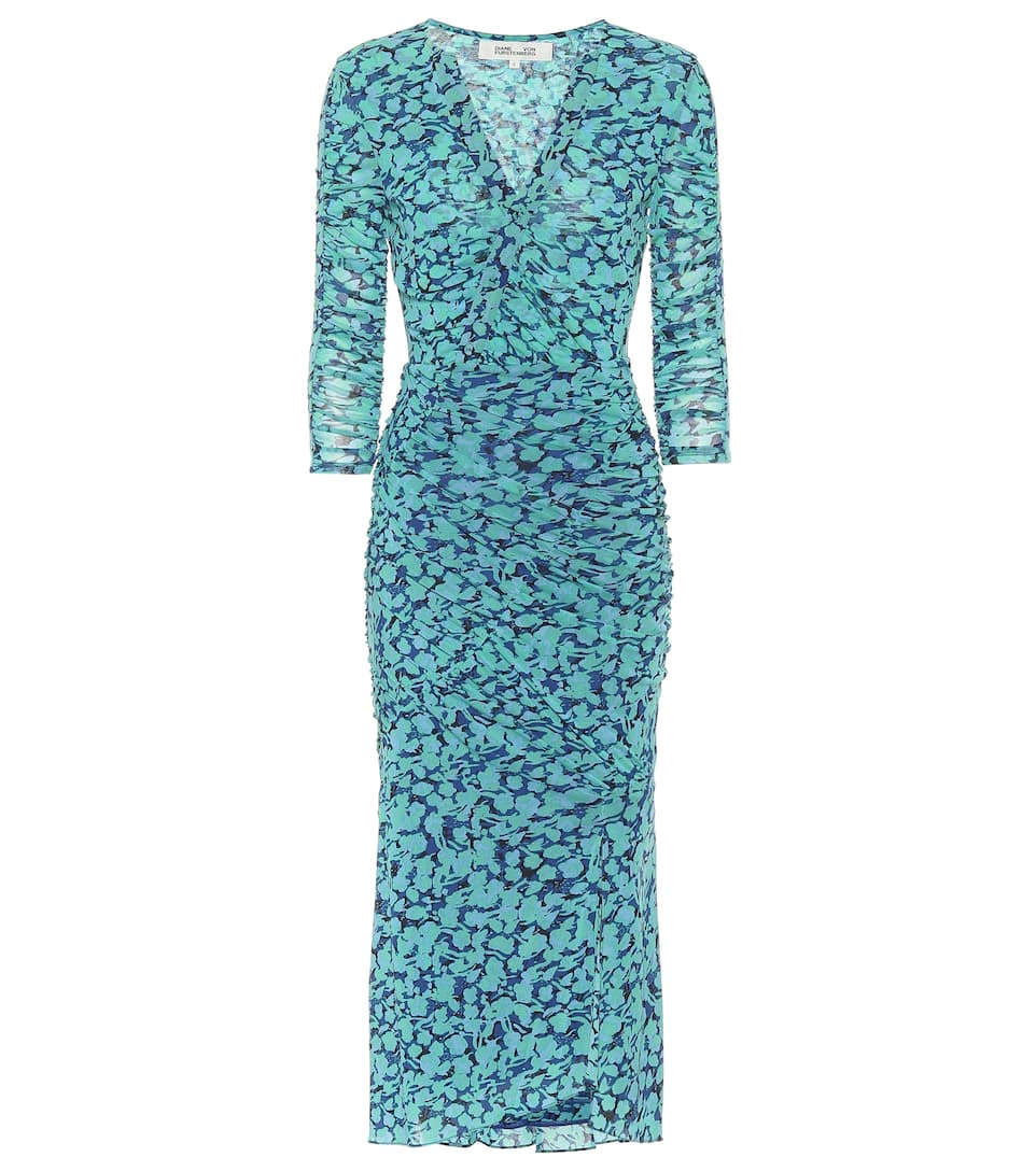 DIANE VON FURSTENBERG, Alfie printed midi dress, от 1045лв на 731лв