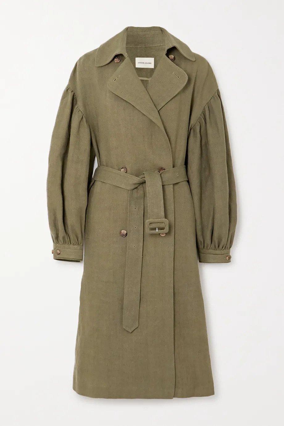 LOULOU STUDIO, Pukapuka oversized linen trench coat, от 1153лв на 576лв