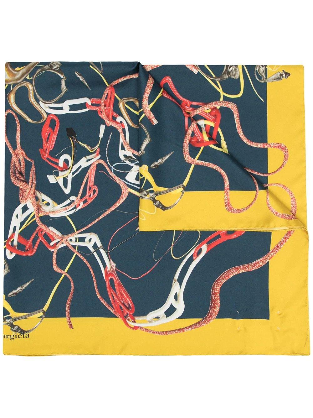 Maison Margiela, Graphic print pattern scarf, от 670лв на 400лв