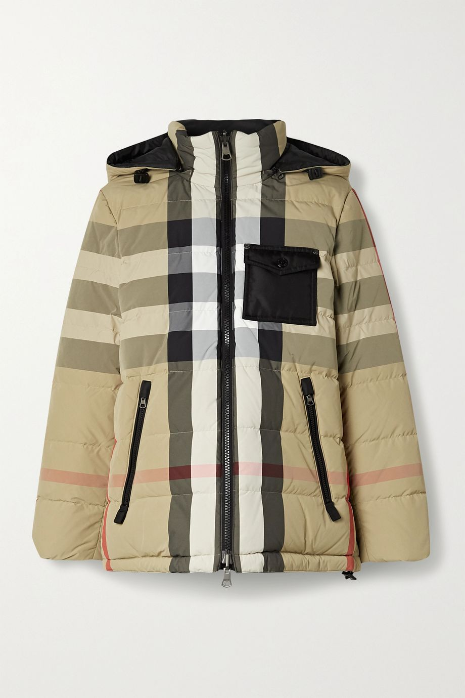 Burberry, Reversible checked quilted shell down jacket 