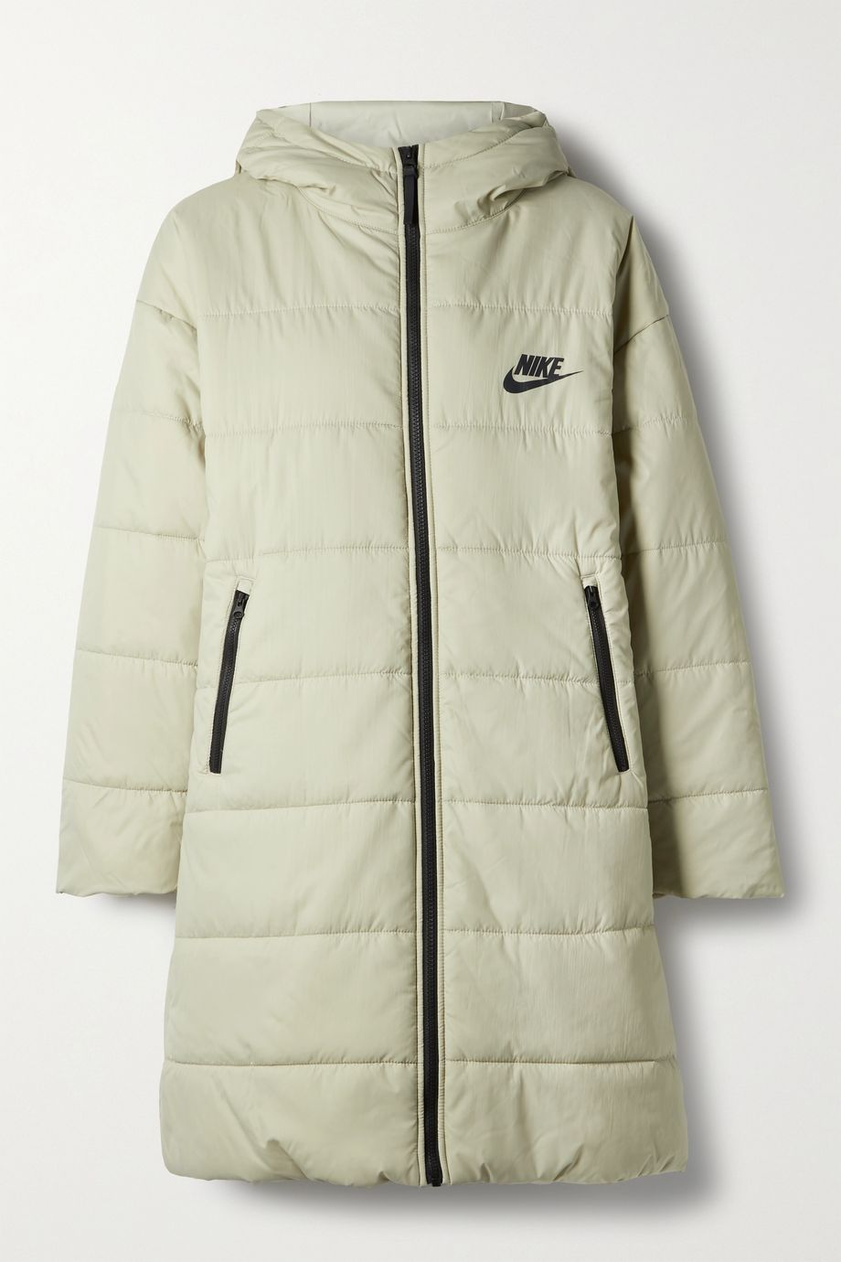 Nike, Appliquéd quilted padded shell parka 