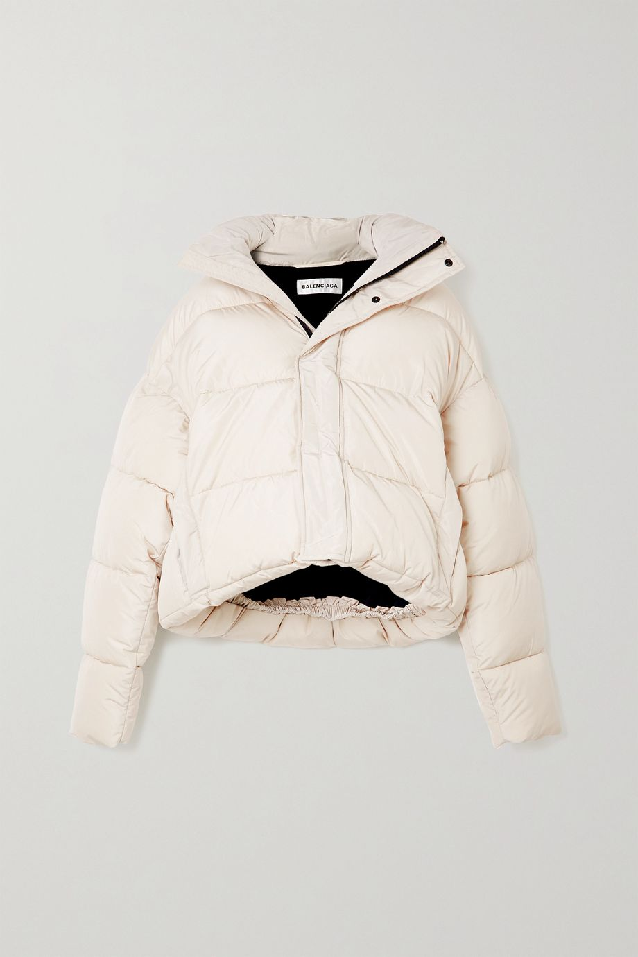 Balenciaga, BB oversized cropped hooded quilted shell jacket