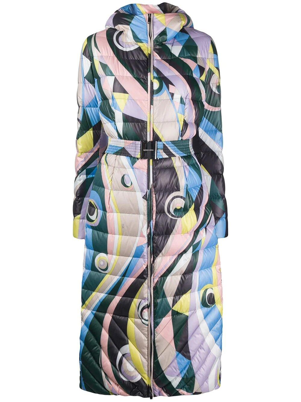 Emilio Pucci, Вelted abstract-print padded coat 2605лв, 2446лв