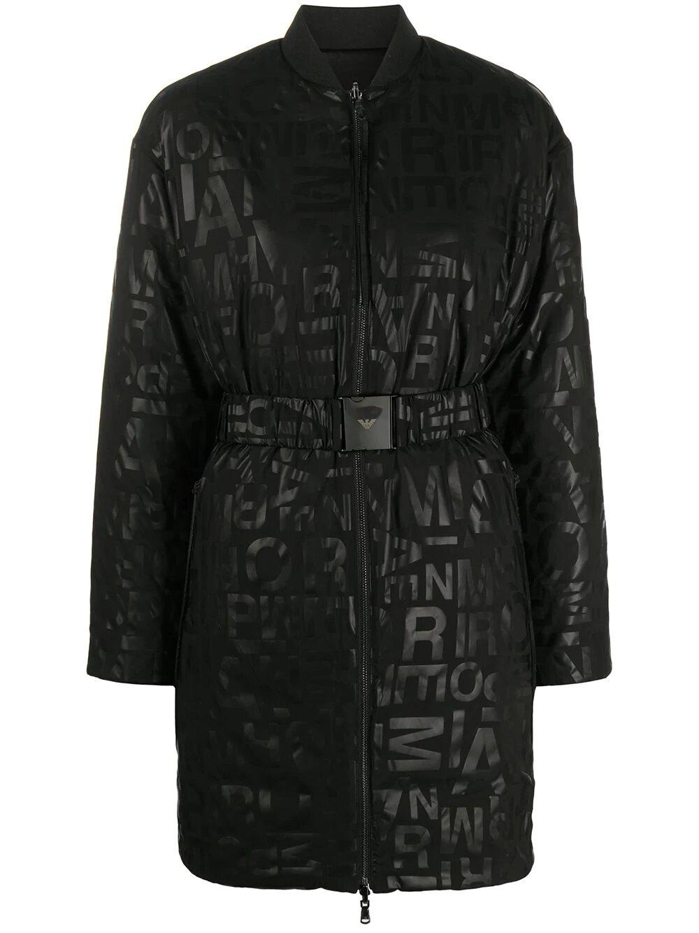 Emporio Armani, Graphic-print puffer coat 967лв, 677лв