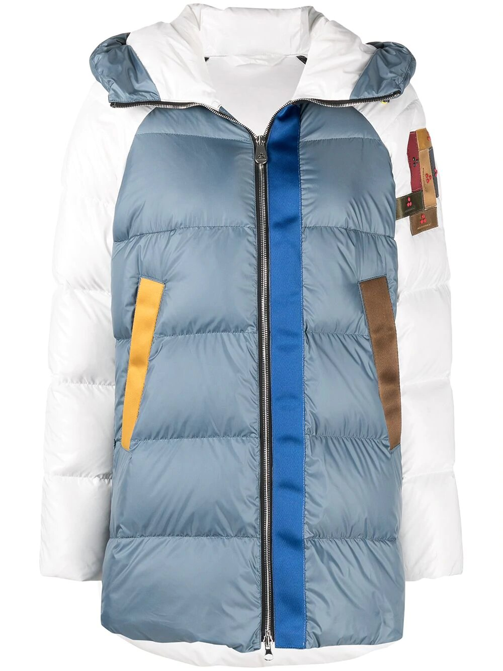 Peuterey, Upcycle colour-block puffer jacket 