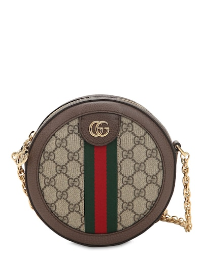 GUCCI, Mini Ophidia GG Supreme round bag, 2170лв