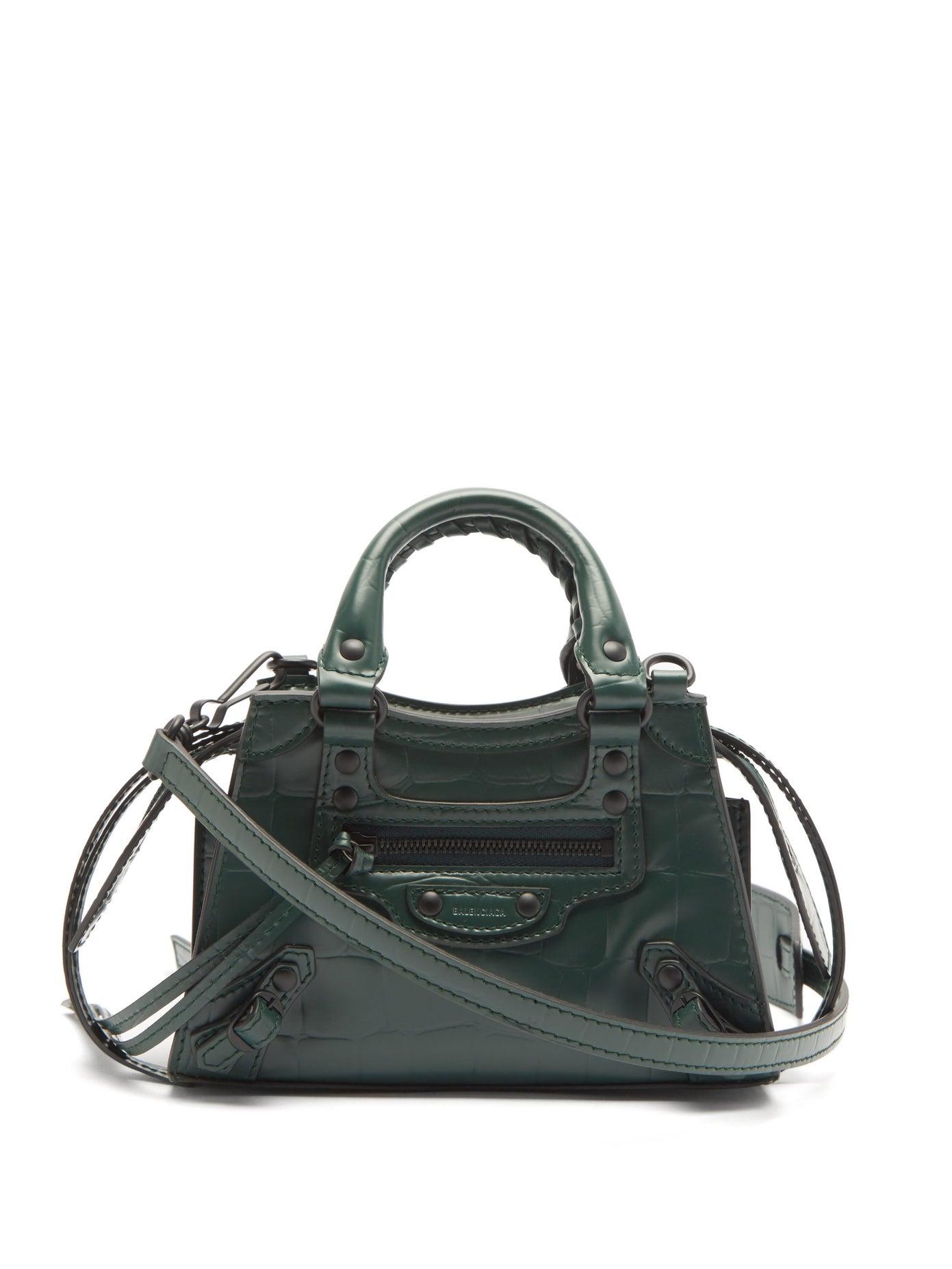 BALENCIAGA, Neo Classic City nano crocodile-effect leather bag, 2520лв