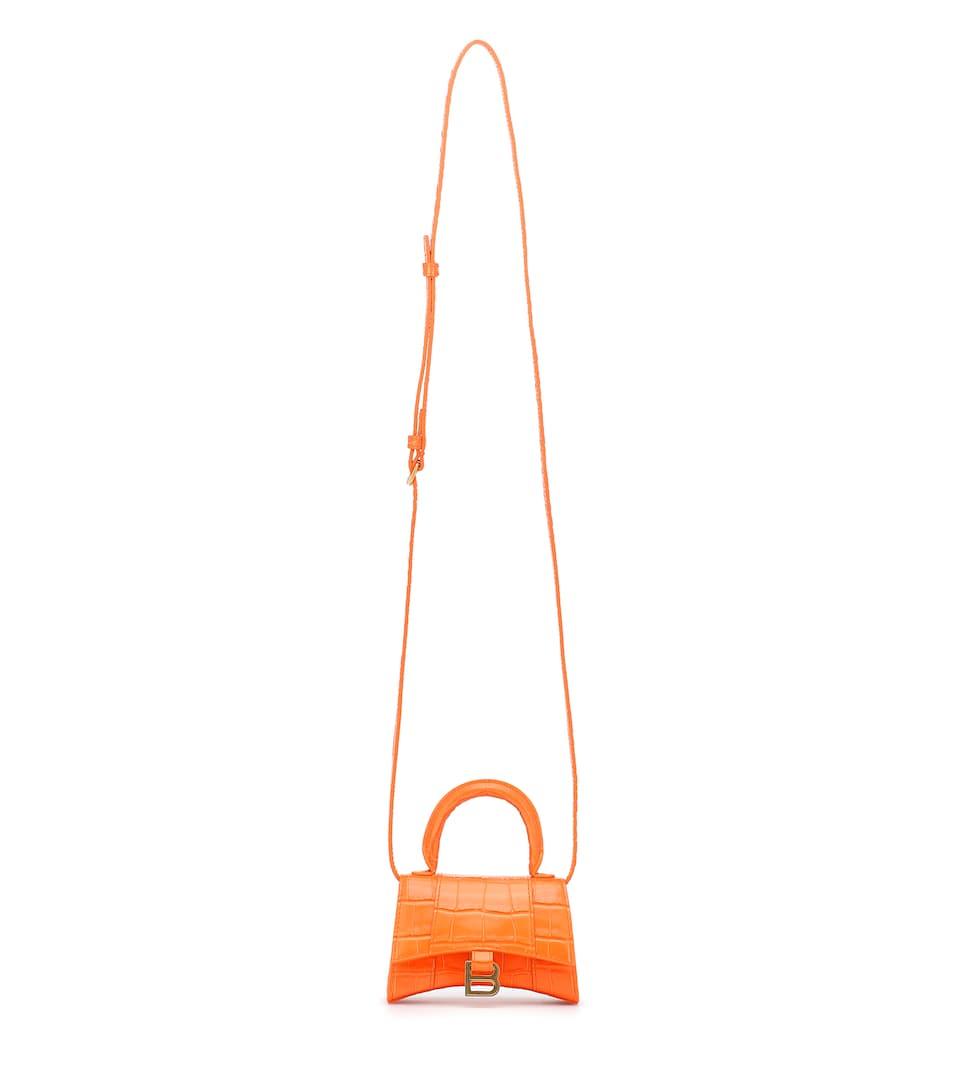 BALENCIAGA, Hourglass Mini leather tote, 1350лв