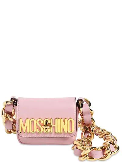 MOSCHINO, Micro leather shoulder bag, 930лв