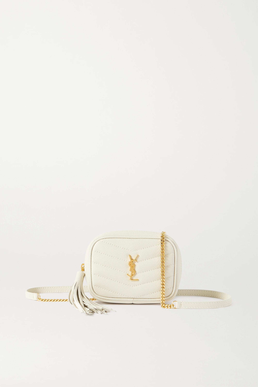 SAINT LAURENT, Lou Baby quilted textured-leather shoulder bag, 1123лв