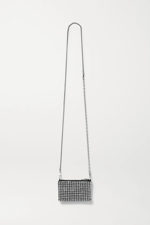 ALEXANDER WANG, Wangloc Nano crystal-embellished leather shoulder bag, 1100лв