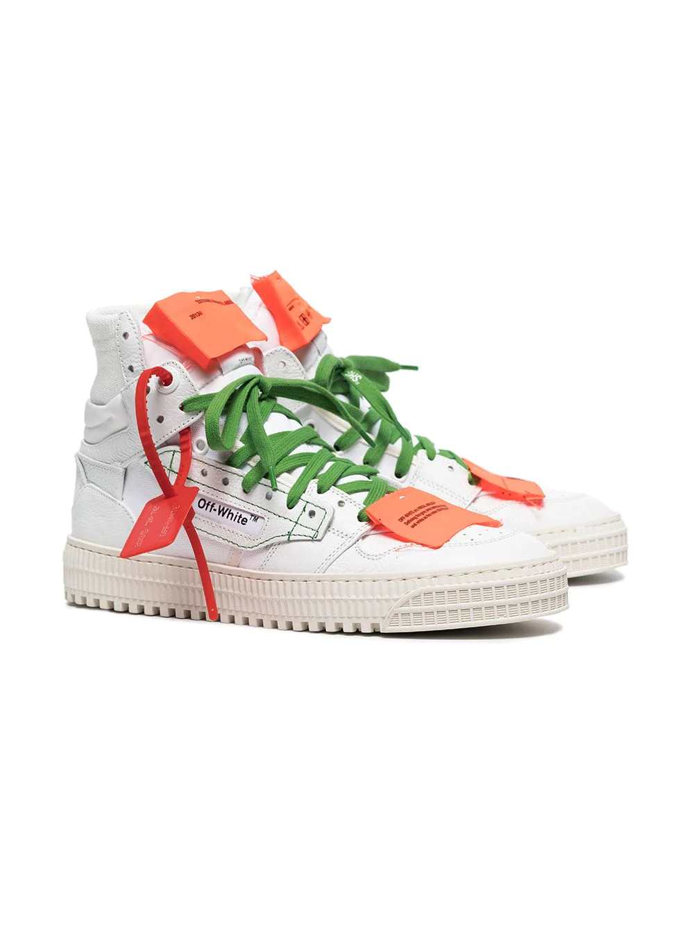 OFF-WHITE white Off Court 3.0 leather sneakers, 1126лв.