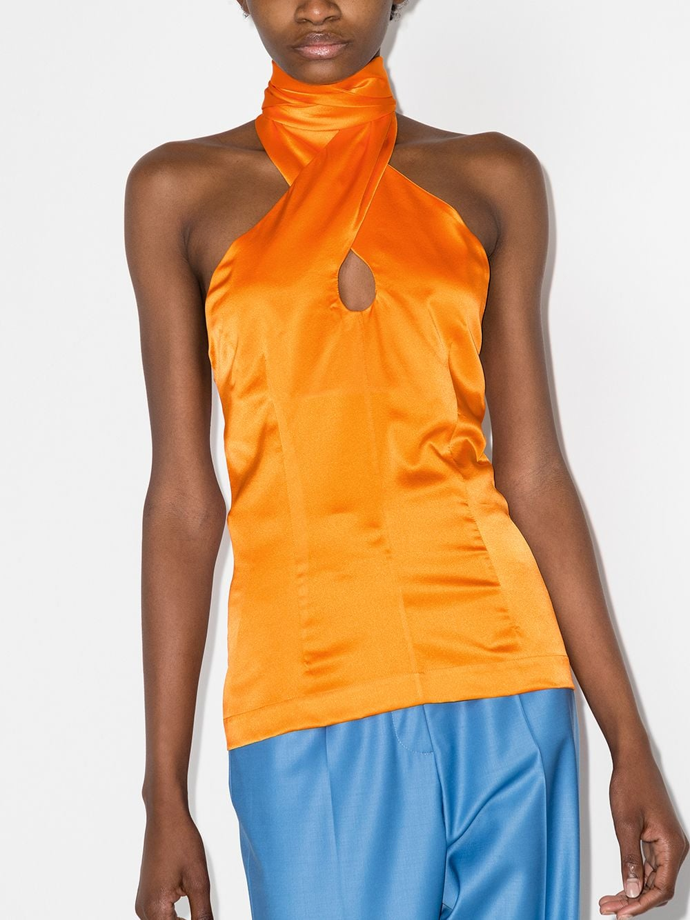 Materiel Halter-neck Silk Top 549лв