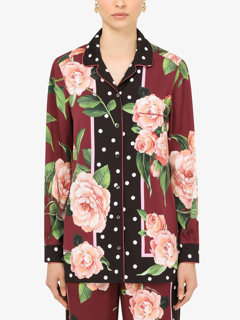 Dolce & Gabbana Printed Silk Shirt 2445лв
