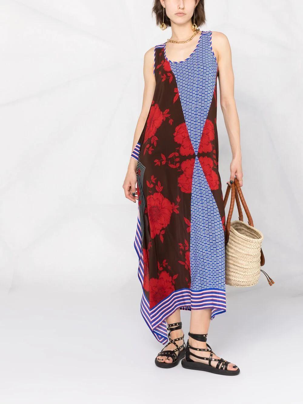 P.A.R.O.S.H. Panelled Silk Dress 559лв