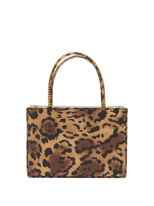 Amina Muaddi Amina Gilda Leopard-print Silk-satin Box Bag 1545лв
