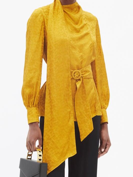 Erdem Willia Paisley-jacquard Silk Blouse 2249лв