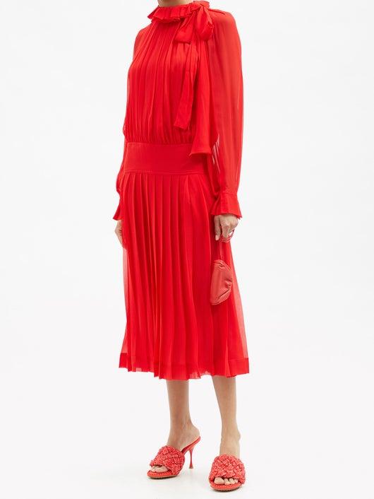 Victoria Beckham Low-waist Silk-georgette Dress 2915лв