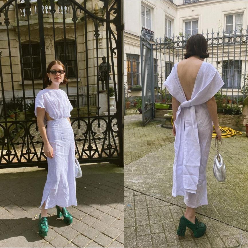 Рийз в рокля Miu Miu